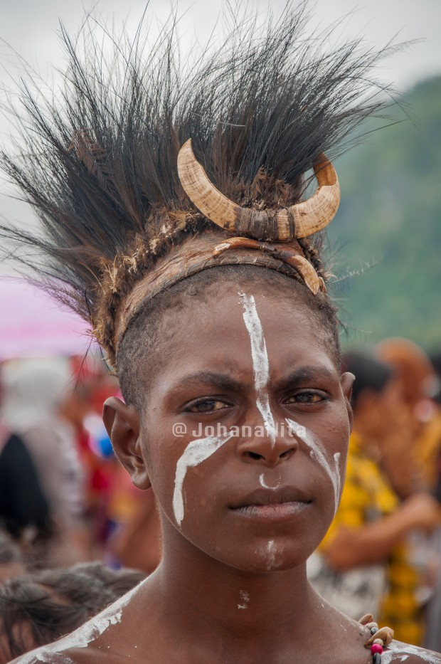 Traditional clothing of coastal Papua.