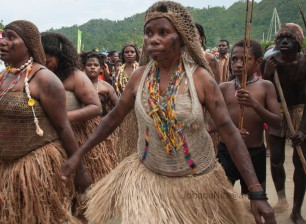Women of the tribe MEE using traditional attire